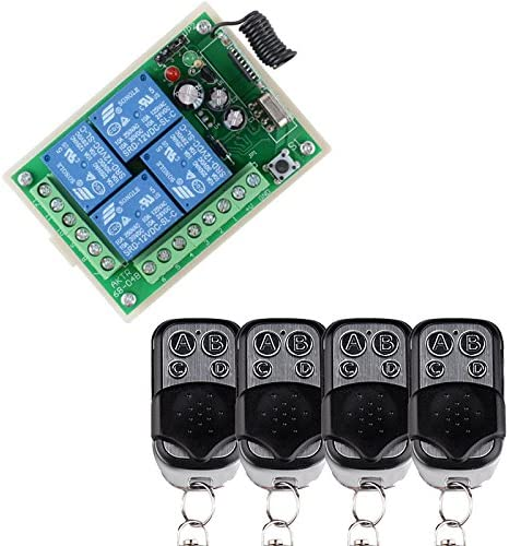 Lejin DC 12V 70% OFF Ranking TOP14 Outlet 24V 4 Channel wireless control Relay swi 10A remote