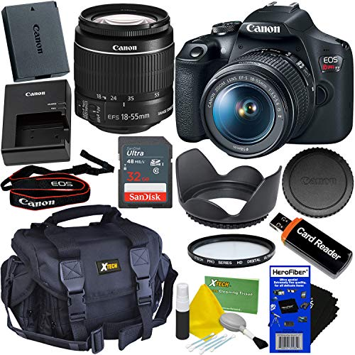Canon DSLR Camera EOS Rebel T7 Bundle with 18-55mm...