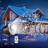 outlife Lampe de Neige Projecteur de Noël LED Extérieur Flocon de Neige Lumière...