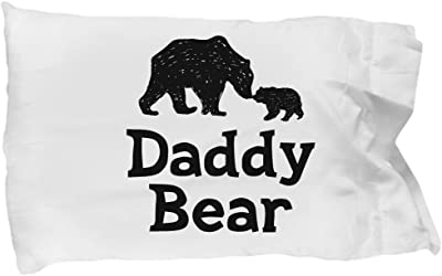 Daddy Papa Bear Pillowcase - Fathers Day Gift for Dad
