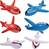 Jumbo dimension: each inflatable airplane measures approx. 20 inches in diameter, with vibrant color and giant size, can easily attract children's attention and favor, light in weight and can be easily grasped by most children over 12 years old What'...