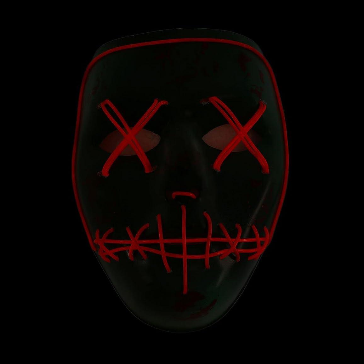 治安判事かまどメナジェリーAuntwhale ハロウィーンマスク大人恐怖コスチューム、光るゴーストフェイスファンシーマスカレードパーティーハロウィンマスク、フェスティバル通気性ギフトヘッドマスク