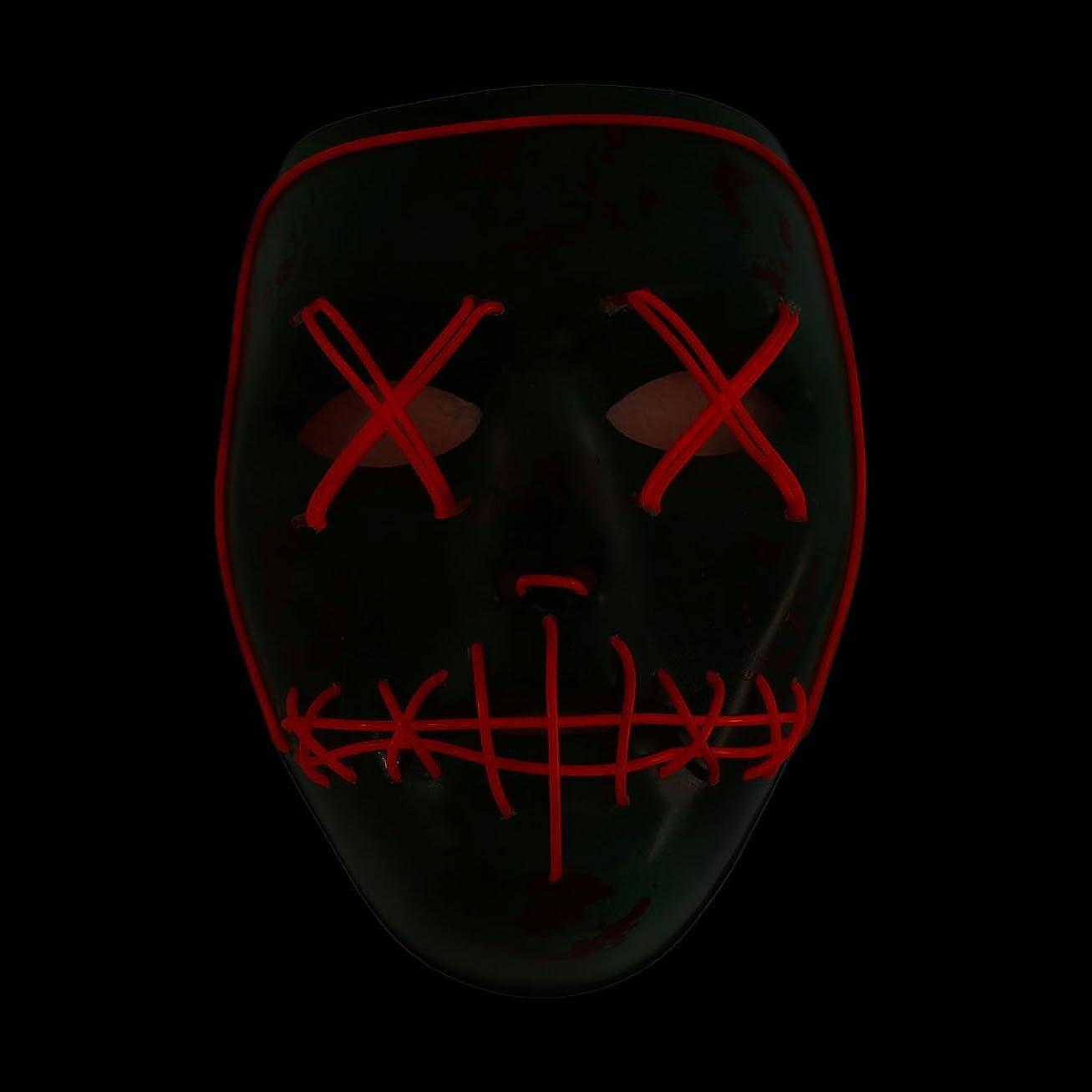 伝記常識高くAuntwhale ハロウィーンマスク大人恐怖コスチューム、光るゴーストフェイスファンシーマスカレードパーティーハロウィンマスク、フェスティバル通気性ギフトヘッドマスク