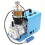 High-Pressure Electric Air Compressor Pump 4500 PSI 30 MPa 300 BAR Adjustable Auto-stop High Pressure System Rifle PCP Paintball Fill Station for Fire Fighting and Diving (30Mpa Adjustable Auto-stop)