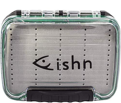 FISHN wasserdichte Köderbox - Blinkerbox - Blinkertasche für Spoons, Spinner, Blinker und Fliegen - doppelseitig (Blinkerbox wasserdicht M)