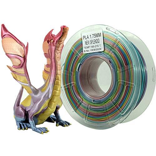 Stronghero3d desktop fdm 3d drucker filament pla regenbogen 1.75mm 1kg (2.2 lbs) dimension genauigkeit von + / -0.05mm