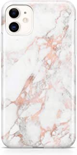 uCOLOR Case Compatible with iPhone 11 XI Protective Case Rose Gold White Marble Slim Soft TPU Silicone Shockproof Cover Compatible iPhone 11 XI 6.1 inch 2019 Release