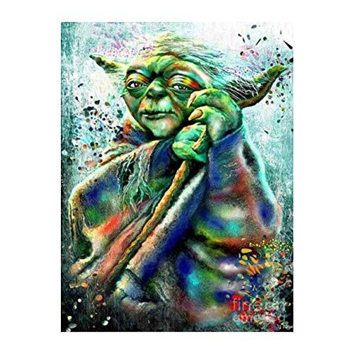 5D Diamante Pintura Punto de Cruz Star Wars Yoda Diamante Bordado Mosaico Imagen Rhinestone Craft Needlework