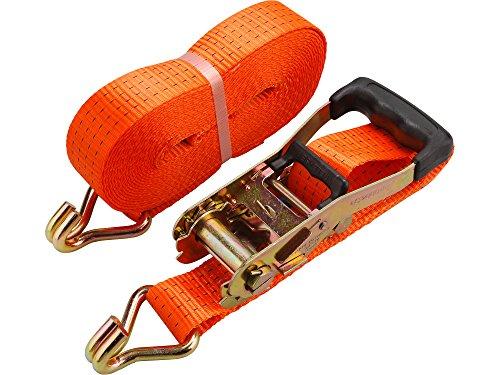 EXTOL PREMIUM spanband met ratel en haak 10 m x 50 mm max.4000 kg