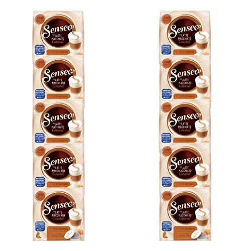 Senseo Kaffeepads Latte Macchiato Caramel, Karamellgeschmack, Cappuccino, Kaffee Pad, Relaunch, neues Design, 100 Pads für 50 Portionen