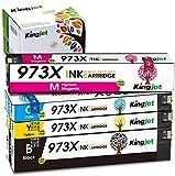 Kingjet Nuovo Chip Compatibile HP 973X 973 Cartucce d'inchiostro per HP Pagewide pro 452dn 452dw MFP 477dn 477dw 552dw MFP 577dw 577z stampante Nero/Ciano/Magenta/Giallo Confezione da 4