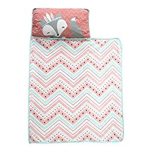 crib bedding and baby bedding lambs & ivy little spirit nap mat, coral/blue/white