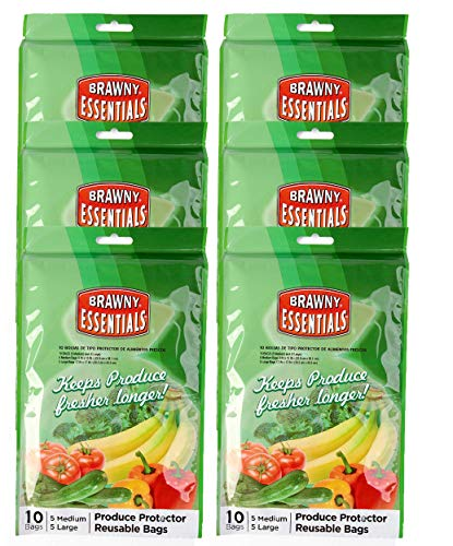 Brawny Essentials Produce Protector Reusable Bags (60 Bags)