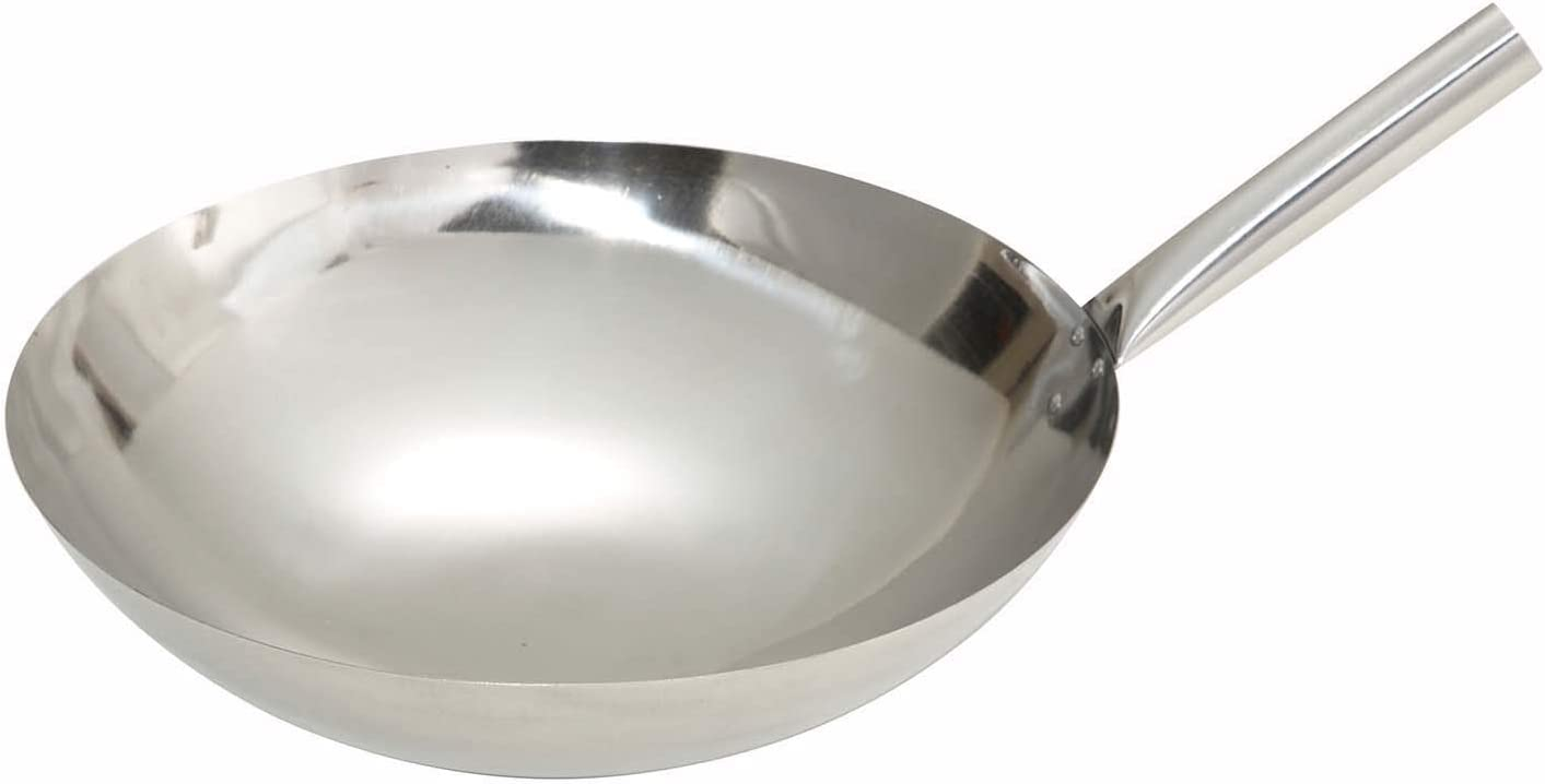 Winco Stainless Rare Discount mail order Steel Nailed 14-Inch Wok Joint
