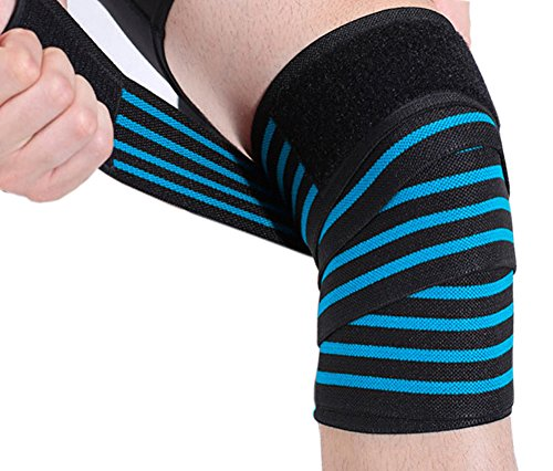 Fascia a compressione di qualità medica per ginocchio, coscia e polpaccio, adatta per supporto durante sollevamento pesi, squat e basket - bendaggio sportivo, sollievo per artrite tendinite
