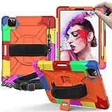 Jacquelyn Coque Antichoc pour iPad Air 4th 10.9 inch avec bandoulière, étui de Protection Robuste...