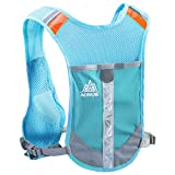 TRIWONDER Reflective Running Vest Hydration Vest Hydration Pack Backpack for Marathoner Running Race Cycling (Blue - Only Vest)