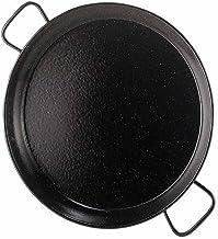 Garcima 12-Inch Enameled Steel Paella Pan, 30 cm, Small, Black