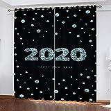 Bawangbieji Cortina Ojales - 2020 - Cortina Opaca Moderna Termicas Aislantes para Niños y Ventanas de Salón Dormitorio-W168X183cmX2 Panel