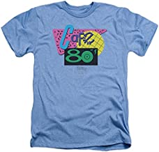 Back to The Future Ii Cafe 80S Unisex Adult Heather T Shirt for Men and Women, Medium Light Blue
