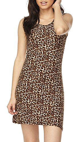 Simply Savvy Co USA - Stylish Leopard Animal Print Gown (Small, Brown)