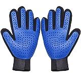 Pet Grooming Gloves Brush Mitt - Gental Pet Deshedding Brush...