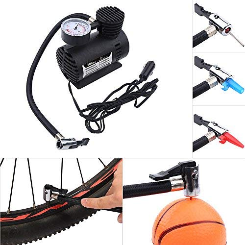 Great Features Of DEWIN Electric Pump Portable Mini Air Compressor, Electric Tire Inflator Pump, Sui...