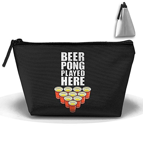 MIPU SHANGMAO Beer Party Pong Trapezoidal Storage Bag Double Print Handbag Zipper Package Coin Purse Cosmetic Pouch Wallet Pencil Holder Zipper