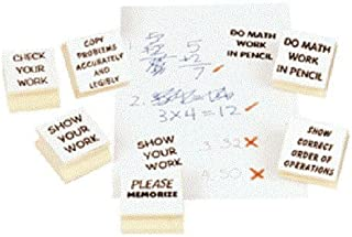 Center Enterprise CE1206 Math Teacher Kit Stamps (Pack of 6)