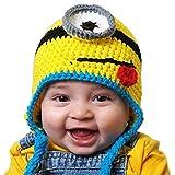 Kinder Mütze Kids Warm Minion Cap für Mädchen Jungen (Blau)