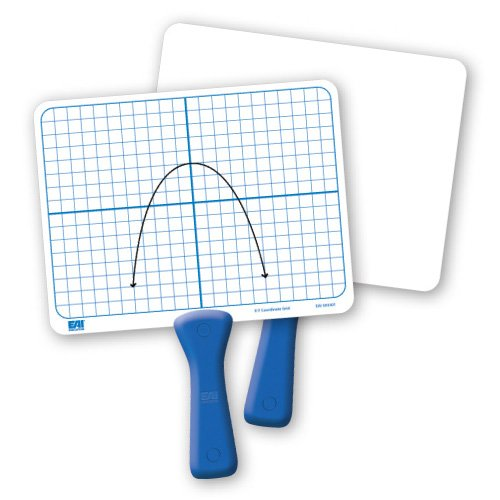 EAI Education Double-Sided X-Y Coordinate Grid Dry-Erase Paddles - Set of 5