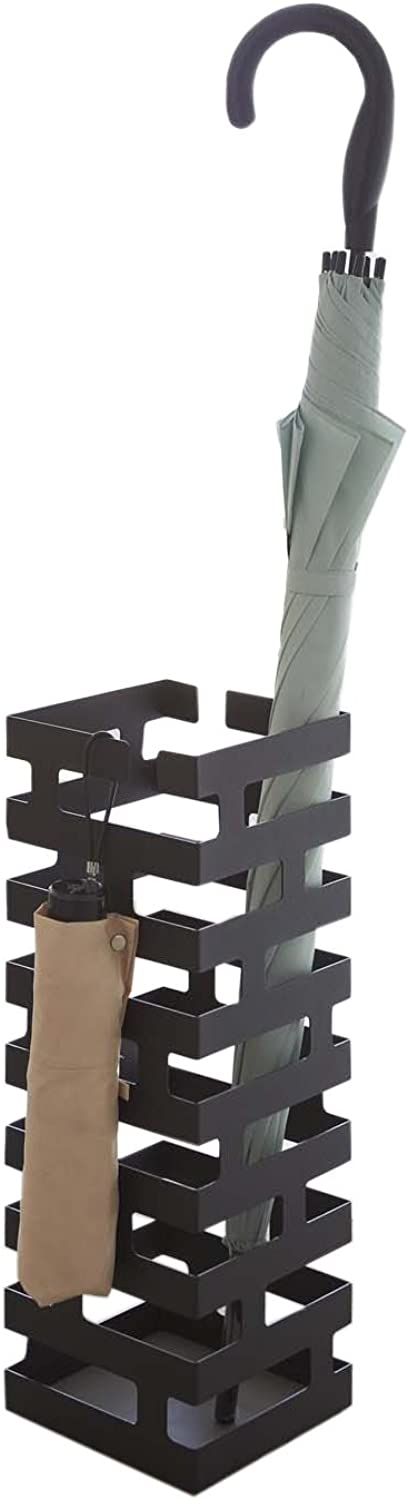 Hang Stand Modern Umbrella Rack in Black Finish