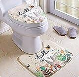 セット内容 :トイレマット+フタカバー 材質:フランネル サイズ:トイレマット:約縦43.5×幅50cm,0.18kg;フタカバー:約35×44cm 0.10kg 抗菌防臭、吸水速乾機能付きで清潔に保てます。蓋カバーの裏面にしっかりと滑りとめ加工が施されて、装着用ゴムバンドも付いて、いるのでずれる心配はありません。 冬に最高なフランネル、ふわふわして暖かく感じて、心地よくご利用いただけます。 シンプルマットにデザインされた北欧風トイレマットセットです。 あたたかく、心地よく、自宅で過ごす時間がほ...