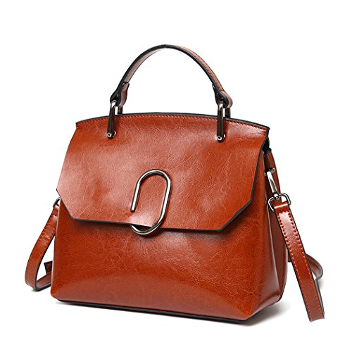Fanspack Women's Top Handle Satchel Handbags Leisure PU Leather Crossbody Shoulder Bag Purse
