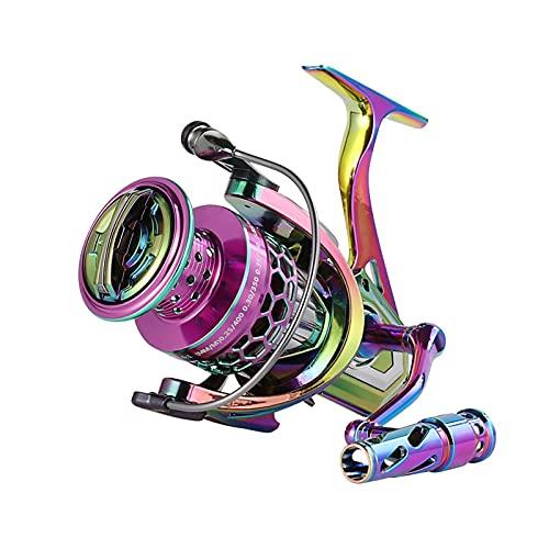 gormyel Colorful Spinning Fishing Reel Sea Fishing Reel, All Metal Feet, Anti-Corrosion Spinning Wheel, Fishing Reel, Fishing Reel, Fishing Reel, Sea Pole Wheel