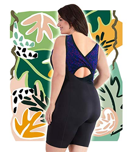 Woman Swimsuit Onepiece US Plus Size XL 14-16 Aquatard Unitard Sports Professional Swimwear