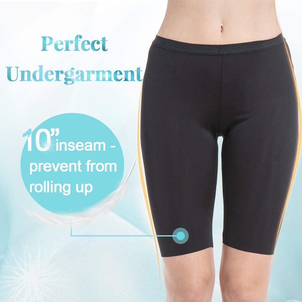 MANCYFIT Slip Shorts for Women Smooth Short Leggings Half Mid Thigh Legging Sleek Undershorts