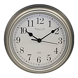 Mainstay Sterling & Noble 8.75 Analog Wall Clock - Silver