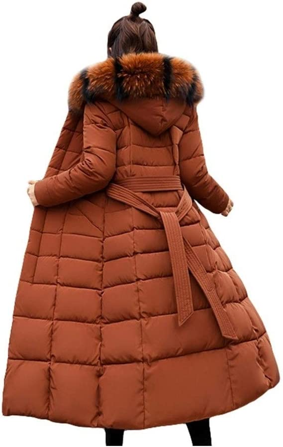 Griselda Max Mode Winterjacke Damen Big Pelz Gürtel Mit Kapuze Dicke Daunen Parkas X-Long Female-Jacken-Mantel Dünne Warme Winter Outwear Black No Fur