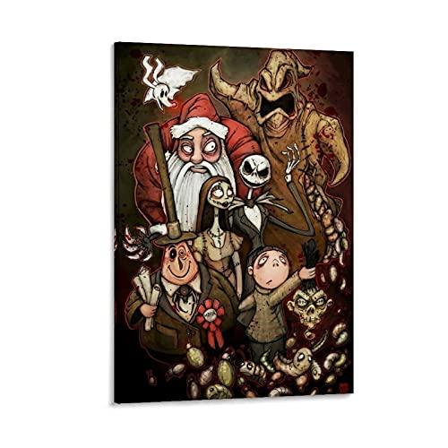 Ghychk The Nightmare-Before-Christmas Jack Skellington Sally Ölgemälde, moderne Wanddekoration, 20 x 30 cm