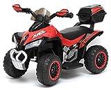 giordano shop Mini Quad Elettrico per Bambini 6V Kid Go Deluxe Rosso
