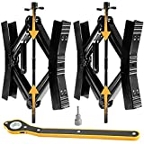 """Camper Wheel Chock Stabilizer 2 Sets, Double Speed Heavy Duty Truck RV Tire Scissor Locking X Chock, Camper Accessories for Travel Trailers Tire Chalks, Anti Rust Coating, Down to 3"""" and Up to 12.5"""""""