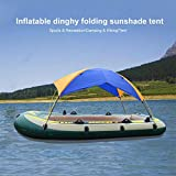 Settlede Boat Sun Shade Shelter, 2-4 Persons Quality Lightweight Folding Inflatables Boat Awning Top...