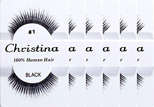 CHRISTINA Eyelashes #1 12 Pairs