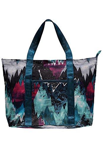 O'Neill Shopper Bag Tasche Graphic Tote blau Allover Print Zipper 30L