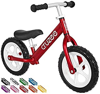 Cruzee Ultralite Balance Bike (4.4 lbs) for Ages 1.5 to 5 Years | Aluminum Best Sport Push Bicycle for 2, 3, 4 Year Old Boys & Girls– Toddlers & Kids Skip Tricycles on The Lightest First Bike