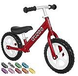 Cruzee Jungen Laufrad, rot, 12 für Kinder, Link führt zur Produktseite bei Amazon