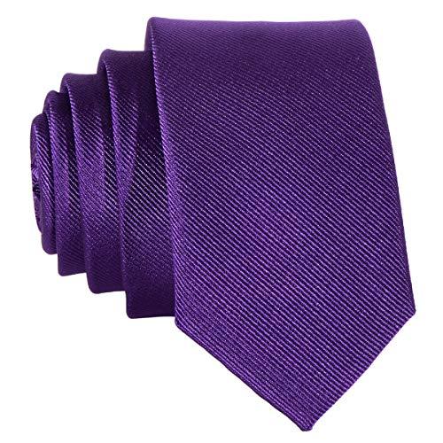 DonDon Corbata estrecha 5 cm de color lila - hecho a mano