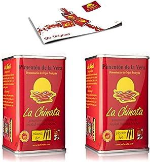 Pimentón de La Vera Ahumado Picante pack La Chinata 2 latas 160g