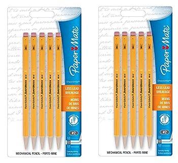 Paper Mate SharpWriter Mechanical Pencils 0.7 mm #2 HB Yellow Pack of 10